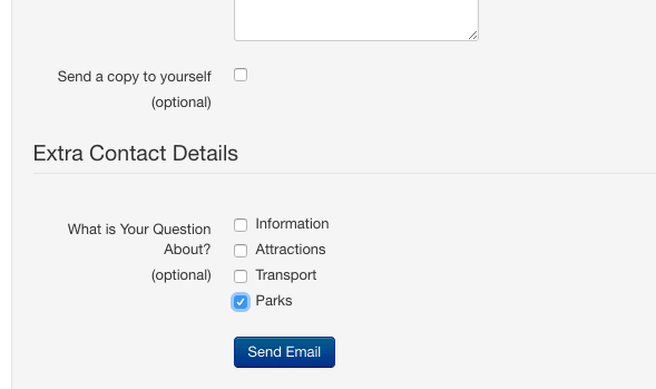Adding extra fields to the Joomla contact form   7